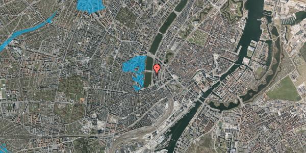 Oversvømmelsesrisiko fra vandløb på Vester Søgade 16, 1. th, 1601 København V