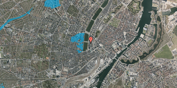 Oversvømmelsesrisiko fra vandløb på Vester Søgade 20, 6. th, 1601 København V