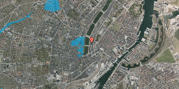 Oversvømmelsesrisiko fra vandløb på Vester Søgade 46, 1. tv, 1601 København V