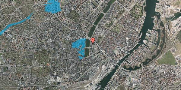 Oversvømmelsesrisiko fra vandløb på Vester Søgade 54, 1. th, 1601 København V