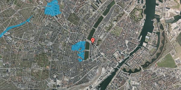 Oversvømmelsesrisiko fra vandløb på Vester Søgade 70, 1. th, 1601 København V