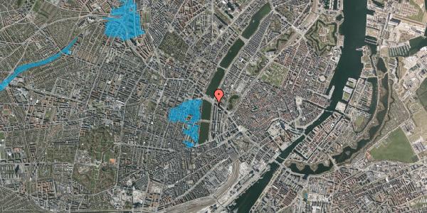Oversvømmelsesrisiko fra vandløb på Vester Søgade 74, 1. tv, 1601 København V