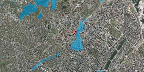 Oversvømmelsesrisiko fra vandløb på Vibevej 33, st. , 2400 København NV