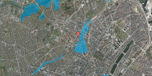 Oversvømmelsesrisiko fra vandløb på Vibevej 33, 2. th, 2400 København NV