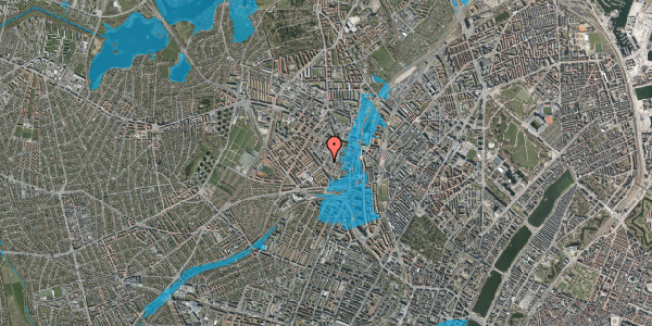 Oversvømmelsesrisiko fra vandløb på Vibevej 35, 2. th, 2400 København NV