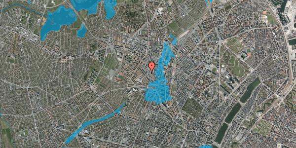 Oversvømmelsesrisiko fra vandløb på Vibevej 35, 2. tv, 2400 København NV