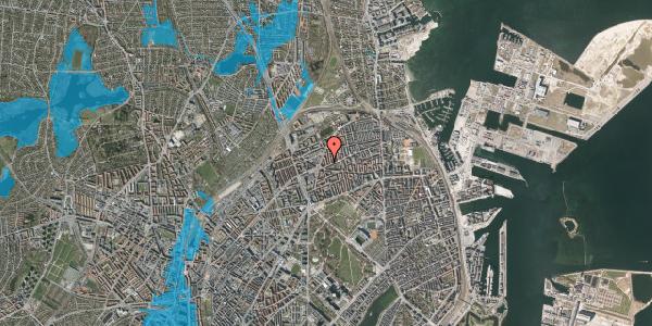 Oversvømmelsesrisiko fra vandløb på Victor Bendix Gade 6, 4. tv, 2100 København Ø