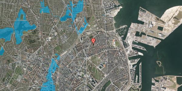 Oversvømmelsesrisiko fra vandløb på Victor Bendix Gade 8, 2. tv, 2100 København Ø
