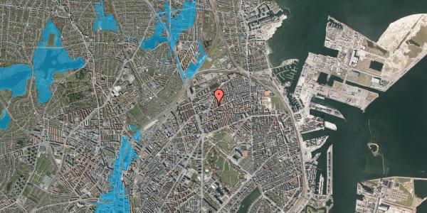 Oversvømmelsesrisiko fra vandløb på Victor Bendix Gade 8, 4. tv, 2100 København Ø