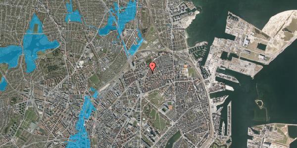 Oversvømmelsesrisiko fra vandløb på Victor Bendix Gade 10, 1. th, 2100 København Ø