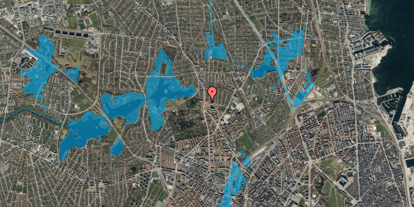 Oversvømmelsesrisiko fra vandløb på Vilhelm Birkedals Vej 6, 1. , 2400 København NV