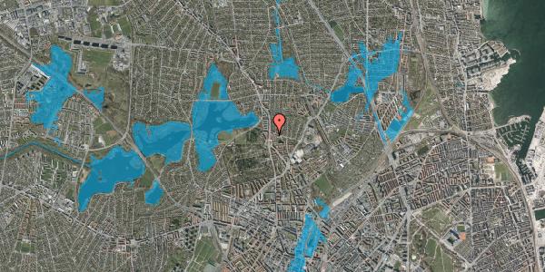 Oversvømmelsesrisiko fra vandløb på Vilhelm Birkedals Vej 6, 2. th, 2400 København NV