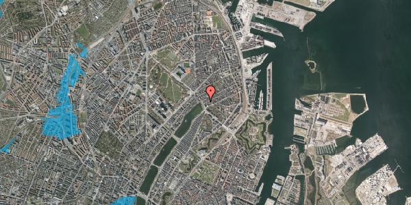 Oversvømmelsesrisiko fra vandløb på Willemoesgade 3, 1. th, 2100 København Ø