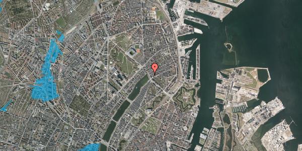Oversvømmelsesrisiko fra vandløb på Willemoesgade 4, kl. 2, 2100 København Ø