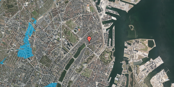 Oversvømmelsesrisiko fra vandløb på Willemoesgade 6, 5. tv, 2100 København Ø