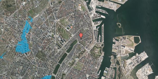 Oversvømmelsesrisiko fra vandløb på Willemoesgade 8, 1. th, 2100 København Ø