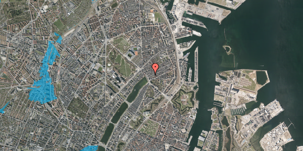 Oversvømmelsesrisiko fra vandløb på Willemoesgade 9, 4. tv, 2100 København Ø