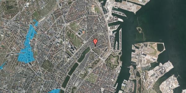 Oversvømmelsesrisiko fra vandløb på Willemoesgade 12, 1. th, 2100 København Ø