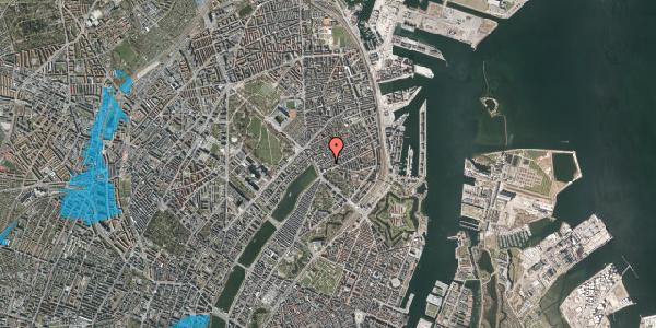 Oversvømmelsesrisiko fra vandløb på Willemoesgade 14, 1. th, 2100 København Ø