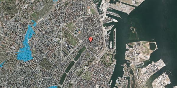 Oversvømmelsesrisiko fra vandløb på Willemoesgade 15, 3. th, 2100 København Ø