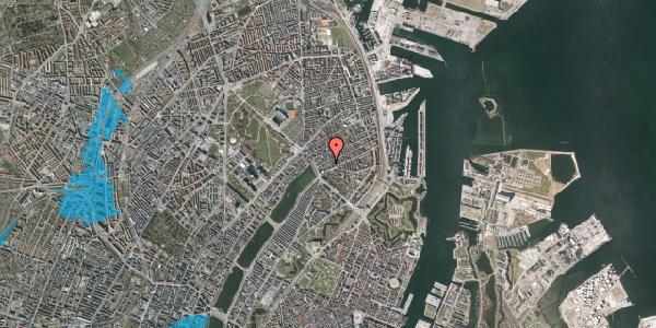 Oversvømmelsesrisiko fra vandløb på Willemoesgade 16, 3. th, 2100 København Ø