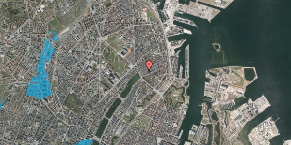 Oversvømmelsesrisiko fra vandløb på Willemoesgade 16, 4. tv, 2100 København Ø