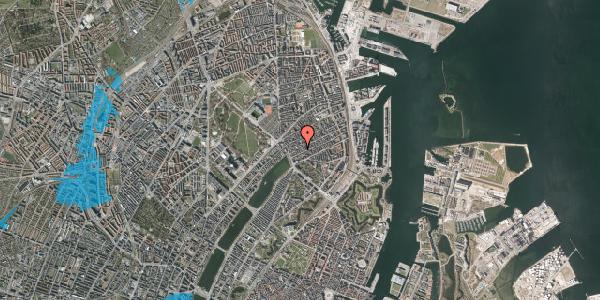 Oversvømmelsesrisiko fra vandløb på Willemoesgade 17, 3. th, 2100 København Ø