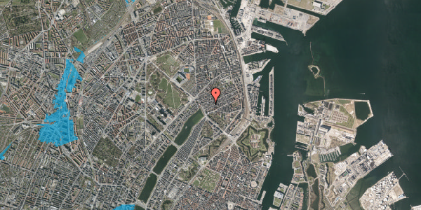 Oversvømmelsesrisiko fra vandløb på Willemoesgade 19, 2. tv, 2100 København Ø