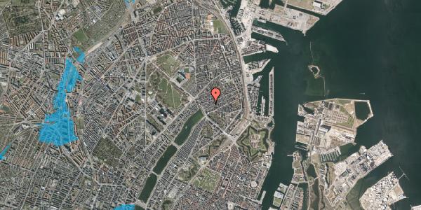 Oversvømmelsesrisiko fra vandløb på Willemoesgade 19, 3. th, 2100 København Ø