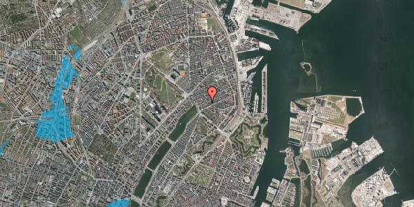 Oversvømmelsesrisiko fra vandløb på Willemoesgade 20, 1. th, 2100 København Ø