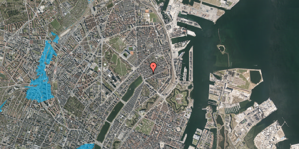 Oversvømmelsesrisiko fra vandløb på Willemoesgade 20, 3. tv, 2100 København Ø