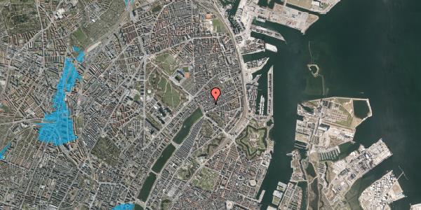 Oversvømmelsesrisiko fra vandløb på Willemoesgade 23, 1. th, 2100 København Ø