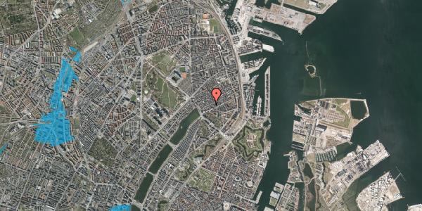Oversvømmelsesrisiko fra vandløb på Willemoesgade 26, 1. th, 2100 København Ø