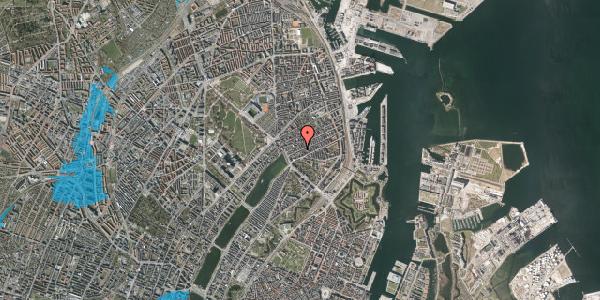 Oversvømmelsesrisiko fra vandløb på Willemoesgade 29, 1. th, 2100 København Ø
