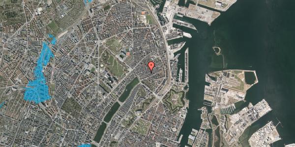Oversvømmelsesrisiko fra vandløb på Willemoesgade 33, 3. tv, 2100 København Ø