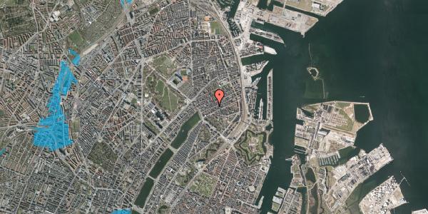 Oversvømmelsesrisiko fra vandløb på Willemoesgade 35, 3. th, 2100 København Ø