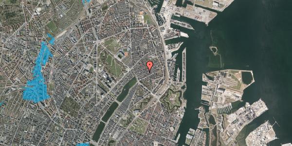 Oversvømmelsesrisiko fra vandløb på Willemoesgade 35, 4. th, 2100 København Ø