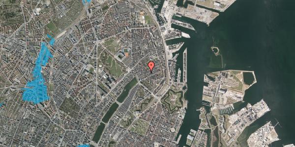 Oversvømmelsesrisiko fra vandløb på Willemoesgade 37, st. tv, 2100 København Ø