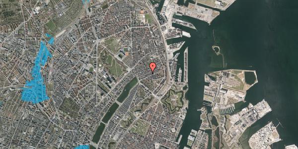 Oversvømmelsesrisiko fra vandløb på Willemoesgade 40, st. tv, 2100 København Ø