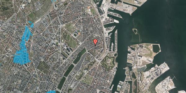 Oversvømmelsesrisiko fra vandløb på Willemoesgade 40, 2. th, 2100 København Ø