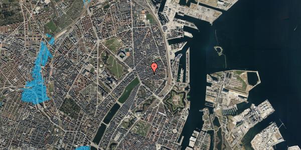 Oversvømmelsesrisiko fra vandløb på Willemoesgade 40, 2. tv, 2100 København Ø