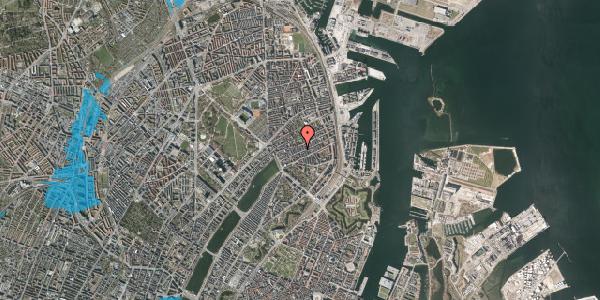 Oversvømmelsesrisiko fra vandløb på Willemoesgade 41, st. tv, 2100 København Ø