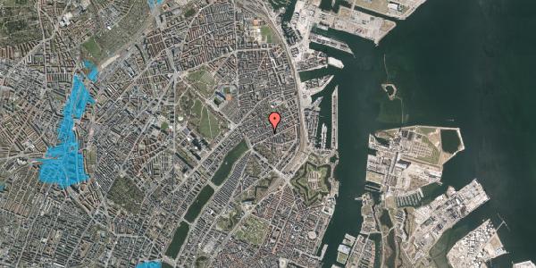 Oversvømmelsesrisiko fra vandløb på Willemoesgade 42, 3. th, 2100 København Ø