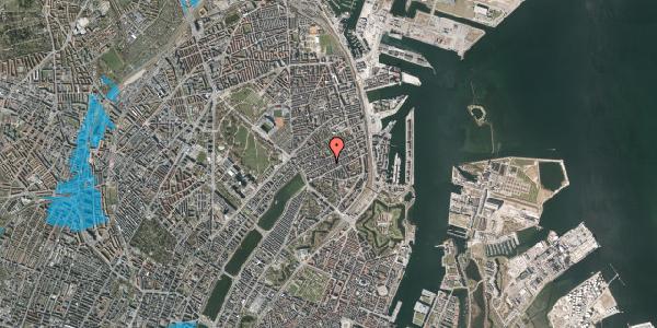 Oversvømmelsesrisiko fra vandløb på Willemoesgade 43, 1. th, 2100 København Ø