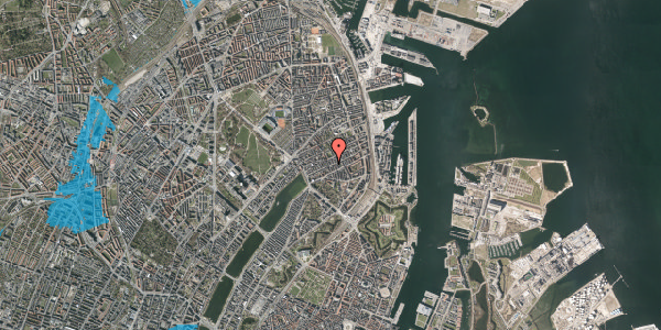 Oversvømmelsesrisiko fra vandløb på Willemoesgade 43, 2. tv, 2100 København Ø