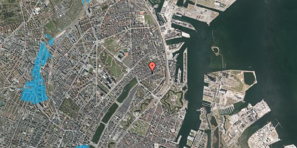 Oversvømmelsesrisiko fra vandløb på Willemoesgade 44, 4. th, 2100 København Ø