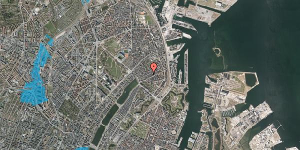 Oversvømmelsesrisiko fra vandløb på Willemoesgade 46, 1. th, 2100 København Ø