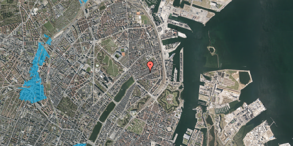 Oversvømmelsesrisiko fra vandløb på Willemoesgade 48, st. tv, 2100 København Ø