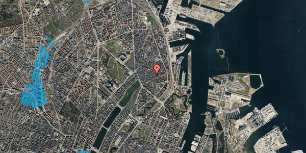 Oversvømmelsesrisiko fra vandløb på Willemoesgade 48, 2. tv, 2100 København Ø
