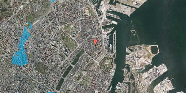 Oversvømmelsesrisiko fra vandløb på Willemoesgade 50, 4. , 2100 København Ø